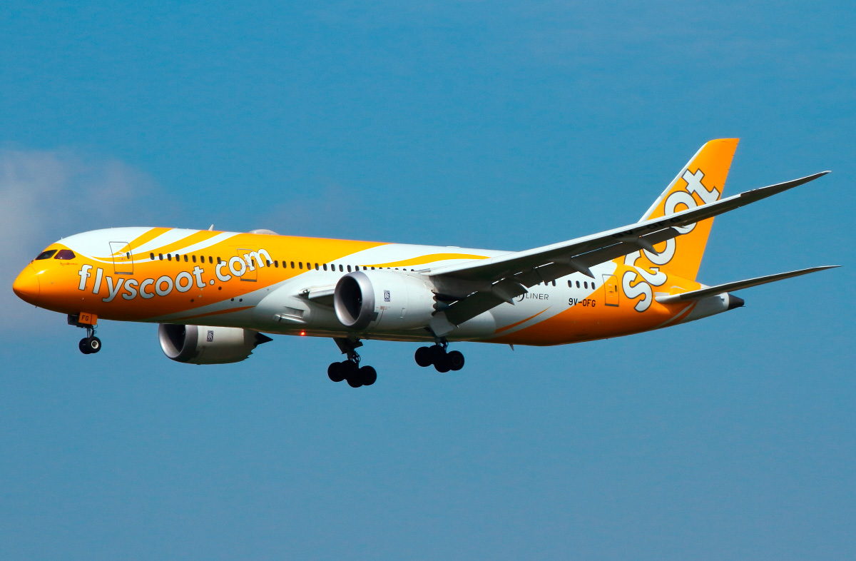 Boeing 787 8 Scoot Airlines Photos And Description Of The