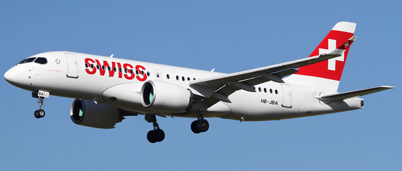 Swiss Bombardier Cseries CS100-500