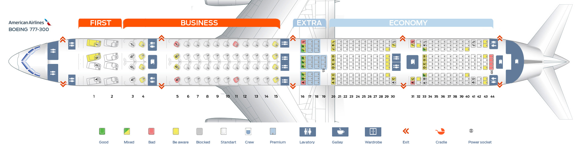 seat map of the boeing 777 300