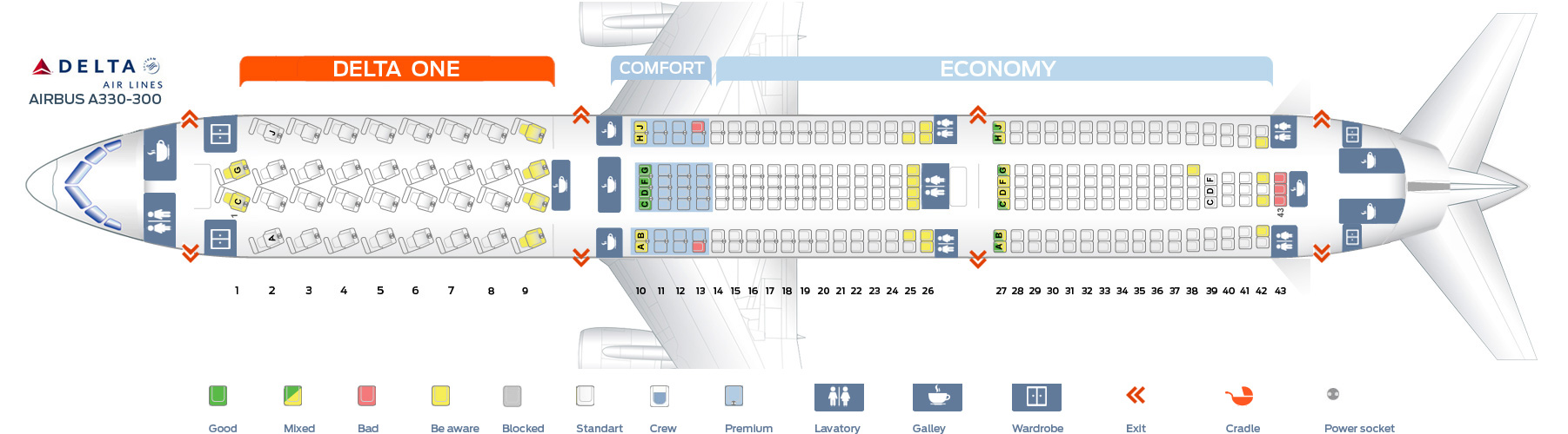 A330 300 Seat Map Seat map Airbus A330 300 Delta Airlines. Best seats in plane
