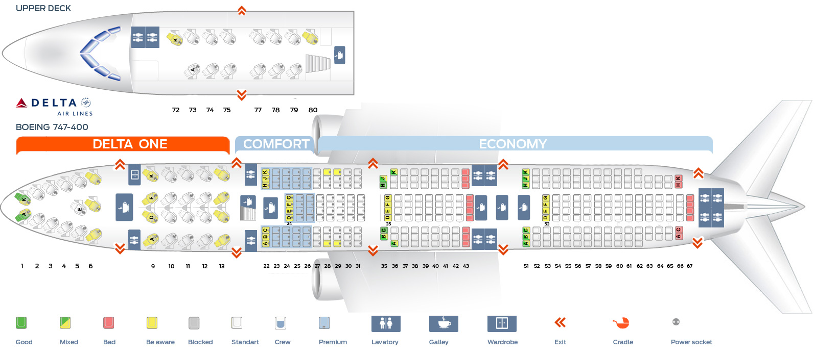 seat map boeing 747 400 delta airlines best seats in plane