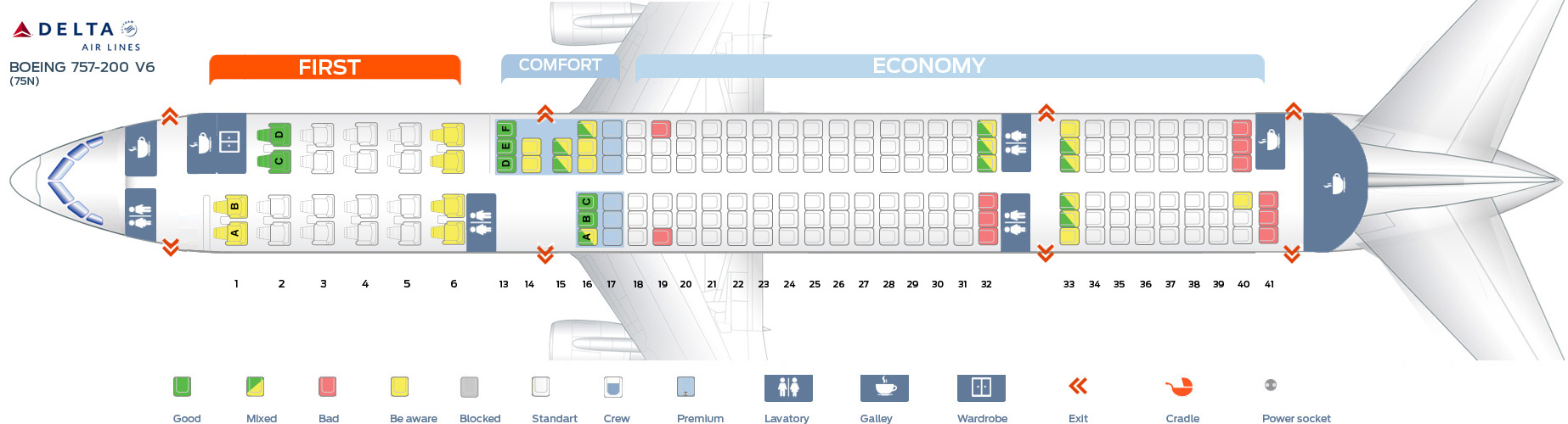 Delta airlines flight seat assignment