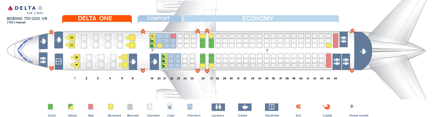 Boeing 757 Delta Seating Brokeasshome Com