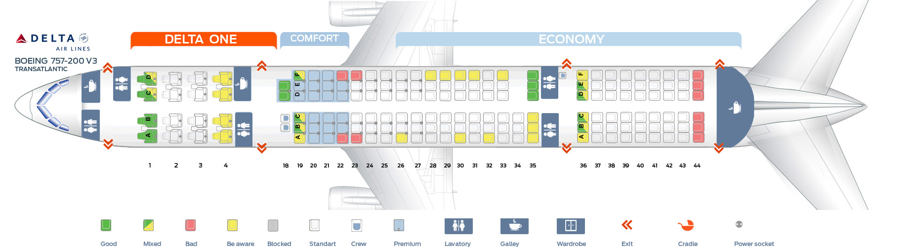 Boeing 757 200 Seating Delta Airlines Brokeasshome Com
