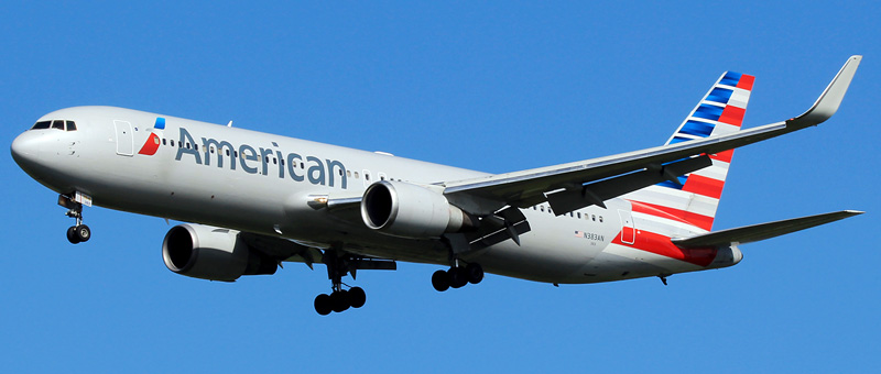 """Seat map Boeing 767-300 """"American Airlines"""". Best seats in the plane"""
