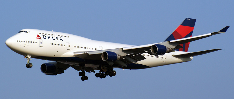 Boeing 747-400 Delta Airlines. Photos and description of the plane