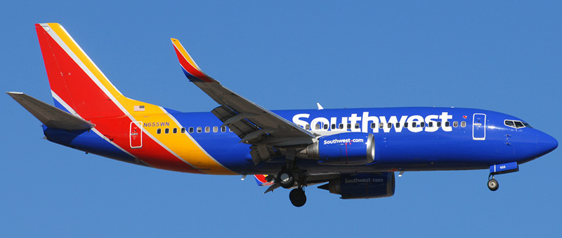 "Seat map Boeing 737-300 ""Southwest Airlines"". Best seats in the plane"