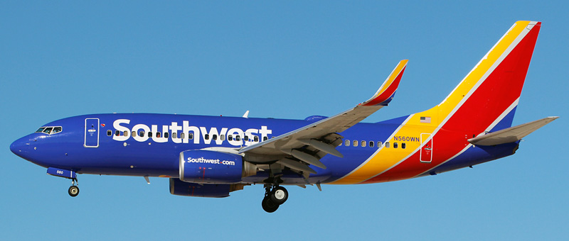 "Seat map Boeing 737-700 ""Southwest Airlines"". Best seats in the plane"