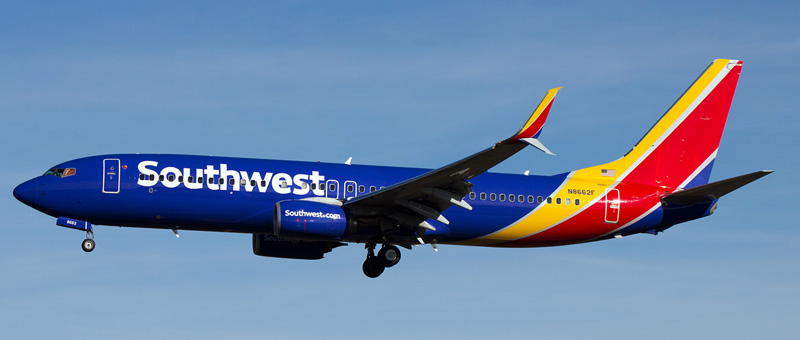 Boeing 737-800 Southwest Airlines. Photos and description of the plane