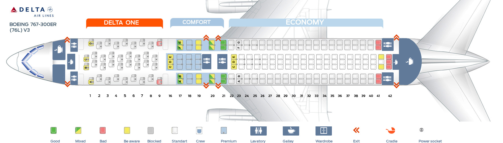 Delta 767 Seat Map Seat map Boeing 767 300 Delta Airlines. Best seats in plane