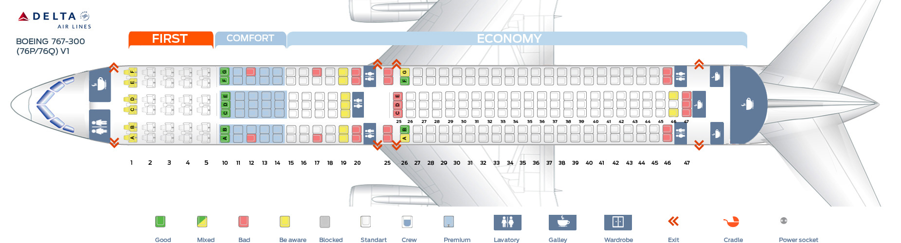 Delta Boeing 767 Seating Chart Bing Images