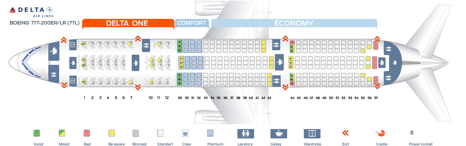 Seat map boeing 777 200 delta airlines best seats in plane