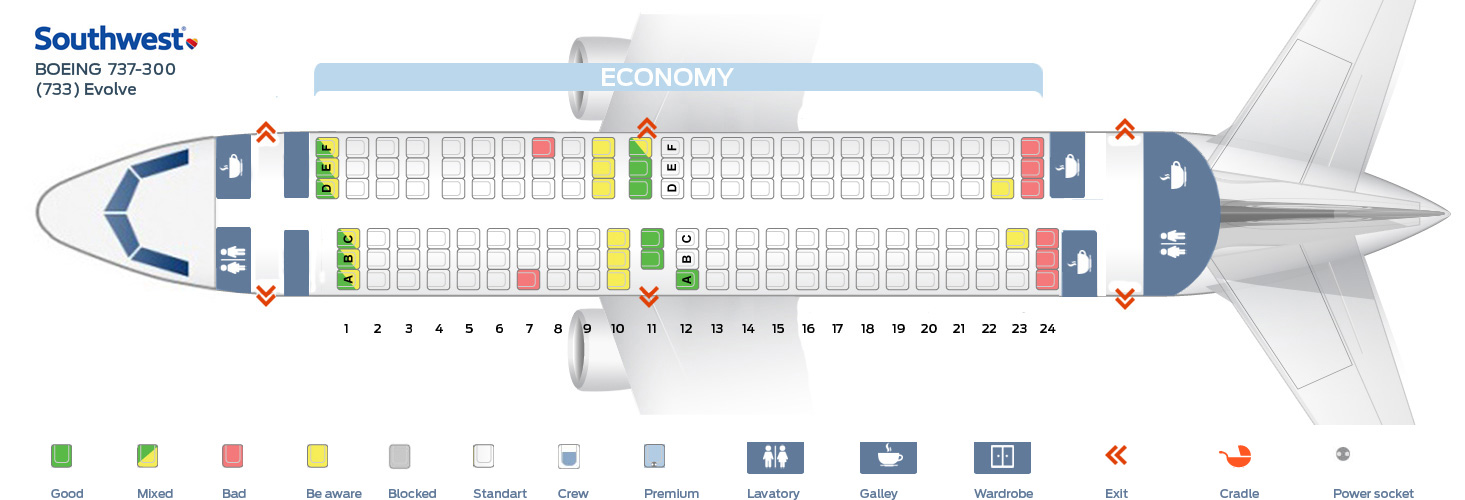 Seat Map Boeing 737 300 Southwest Airlines Quot Best Seats In