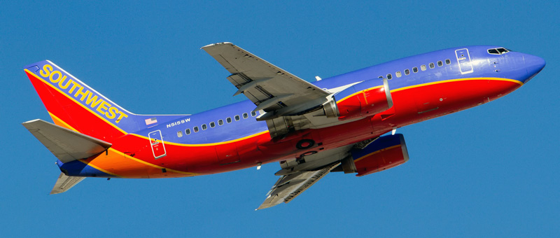 """Seat map Boeing 737-500 """"Southwest Airlines"""". Best seats in the plane"""