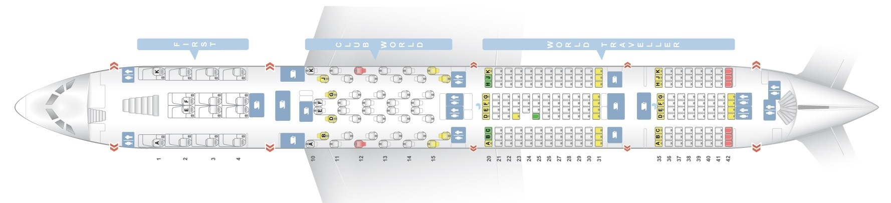 Seat Map Airbus A380 800 British Airways Best Seats In Plane