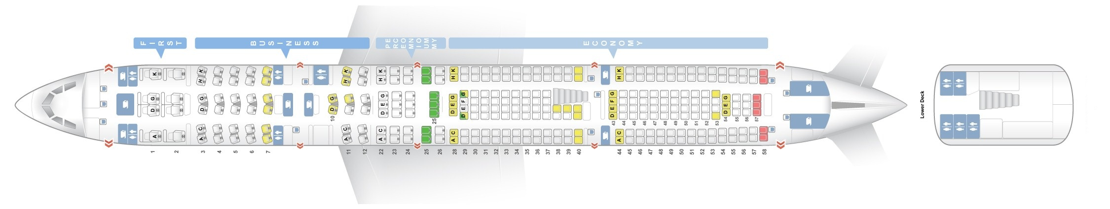 Seat Map Airbus A340 600 Lufthansa Best Seats In Plane