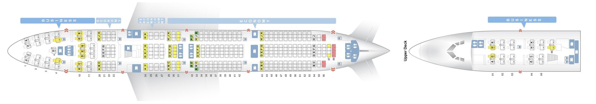 Seat Map Boeing 747 400 Lufthansa Best Seats In Plane