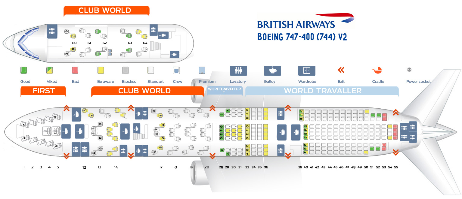 Ba 747 Seat Map Seat map Boeing 747 400 British Airways. Best seats in plane