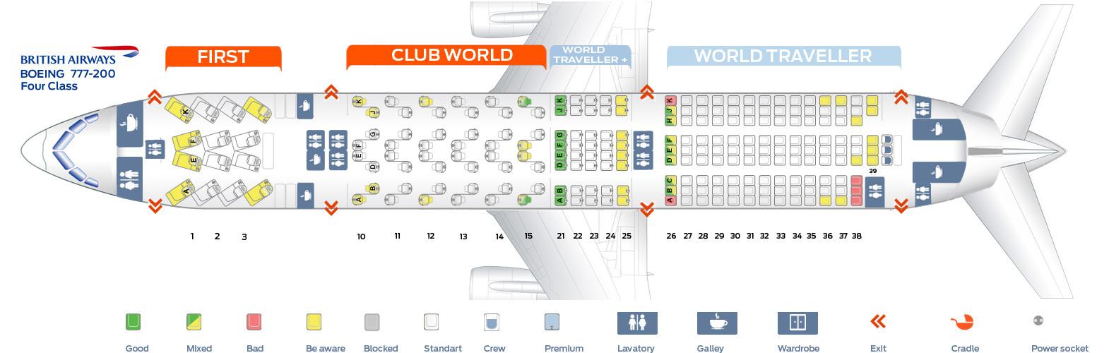 Boeing 777-200 Seat Map Seat map Boeing 777 200 British Airways. Best seats in plane Boeing 777-200 Seat Map