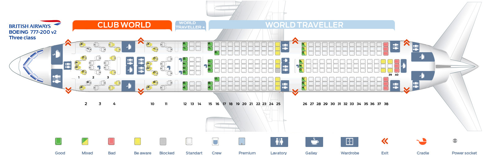 british airways seating assignment