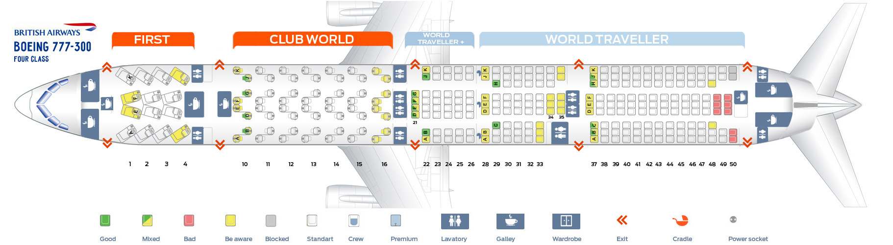 British Airways 777 Seat Map Seat map Boeing 777 300 British Airways. Best seats in plane