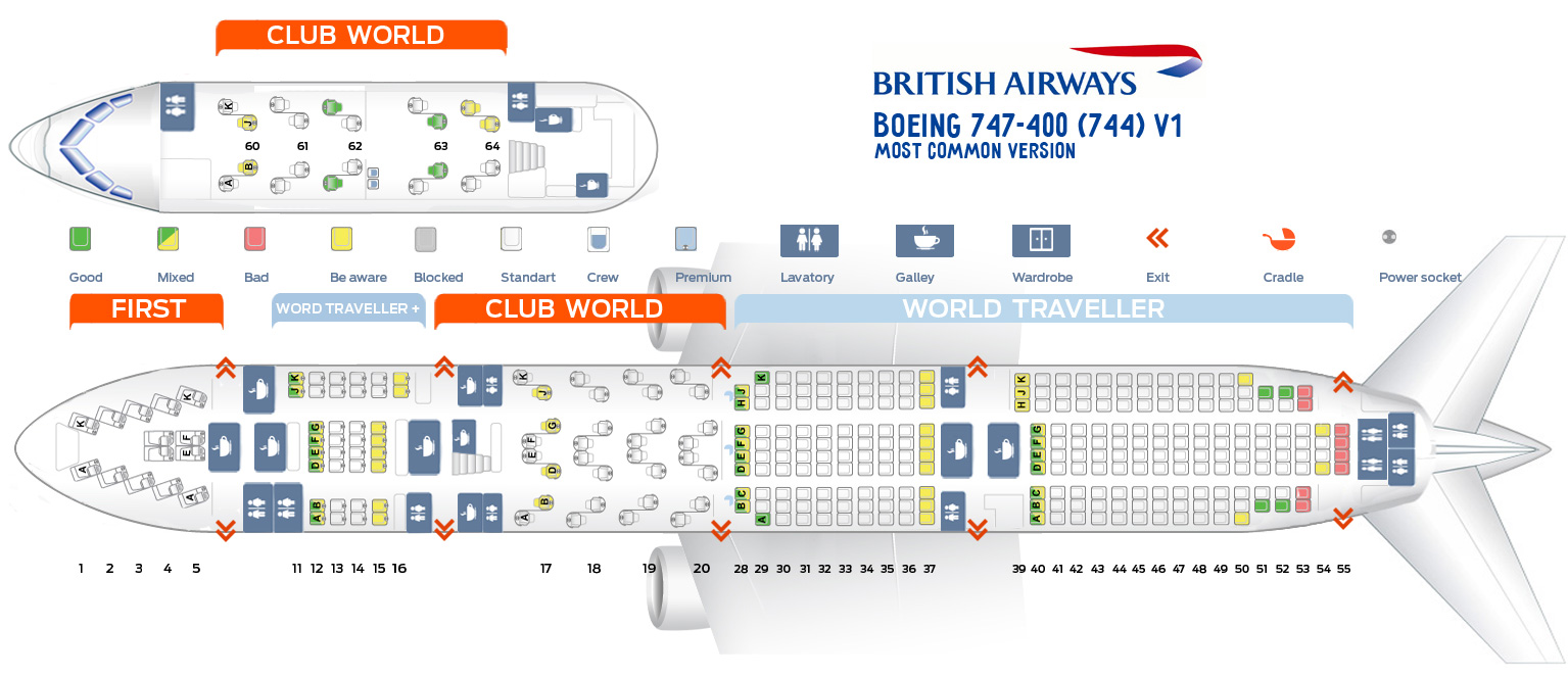 seat map boeing 747 400 british airways best seats in plane
