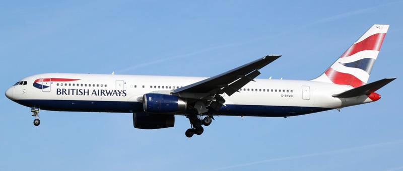 Boeing 767-300 British Airways. Photos and description of the plane