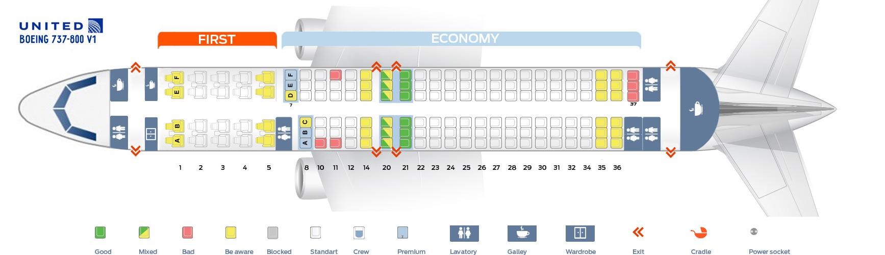 737 800 Seat Map Seat map Boeing 737 800