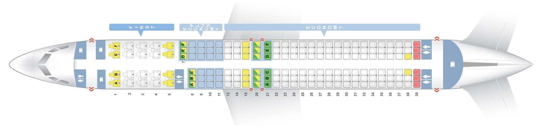 Seat Map Boeing 737 900 United Airlines Best Seats In Plane
