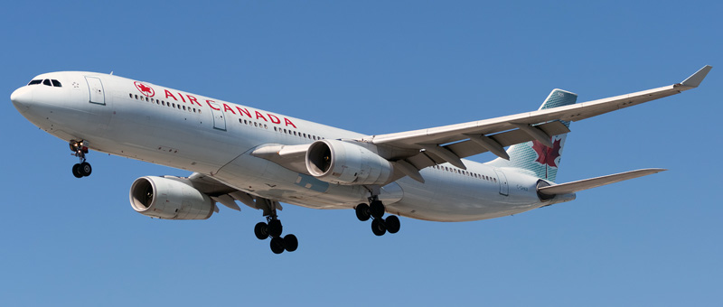 """Seat map Airbus A330-300 """"Air Canada"""". Best seats in the plane"""