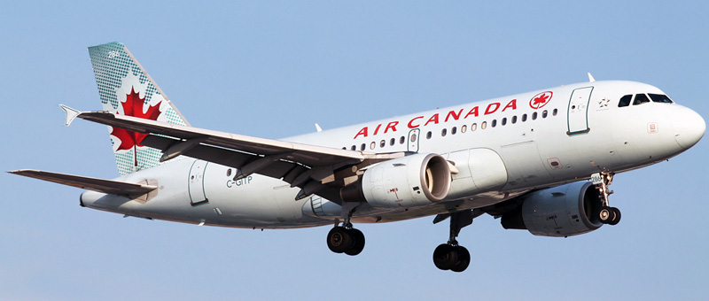 """Seat map Airbus A319-100 """"Air Canada"""". Best seats in the plane"""