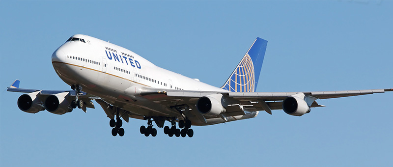 Boeing 747-400 United Airlines. Photos and description of the plane