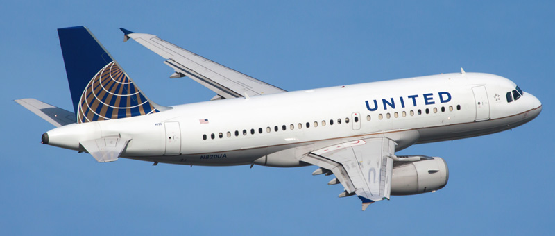 """Seat map Airbus A319-100 """"United Airlines"""". Best seats in the plane"""