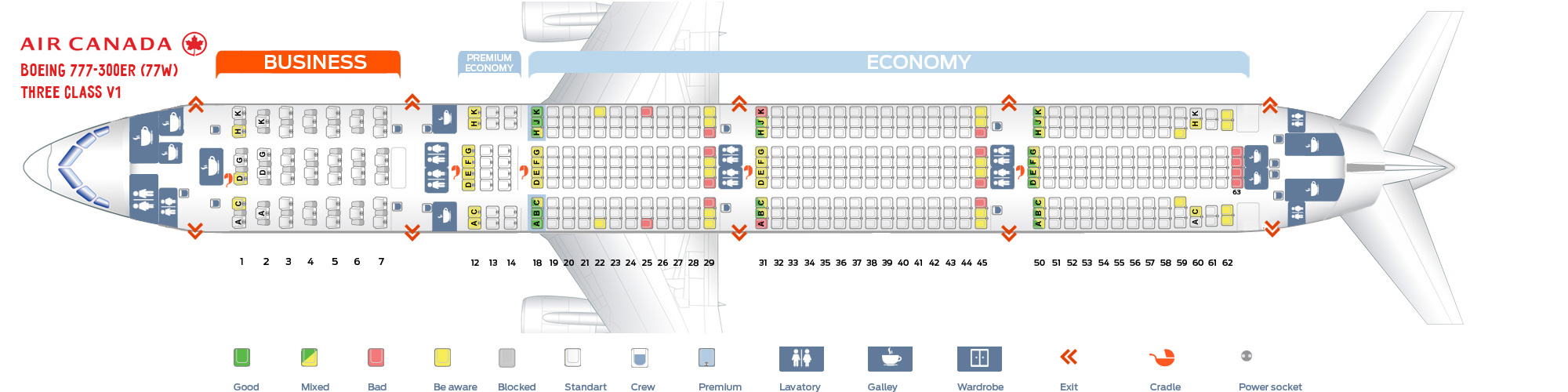 Air Canada 777 300Er Seat Map Seat map Boeing 777 300 Air Canada. Best seats in plane
