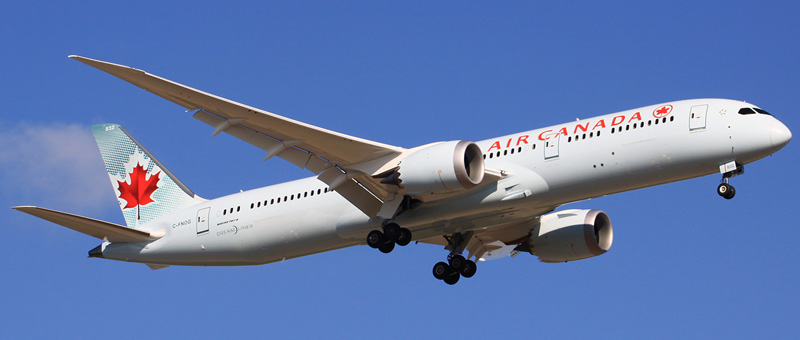 Boeing 787-9 Dreamliner Air Canada. Photos and description of the plane