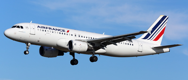 """Seat map Airbus A320-200 """"Air France"""". Best seats in the plane"""