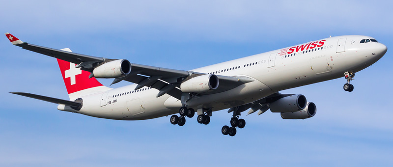 Airbus A340-300 Swiss Airlines. Photos and description of the plane