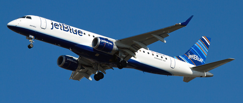 n339jb Jetblue Airways Embraer ERJ-190