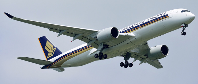 Airbus A350-900 Singapore Airlines. Photos and description of the plane