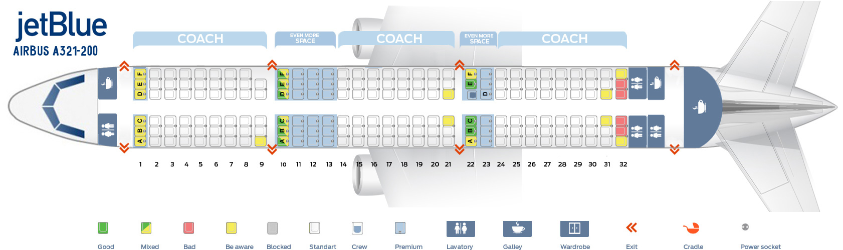 Jetblue A320 Seat Map Seat map Airbus A321 200