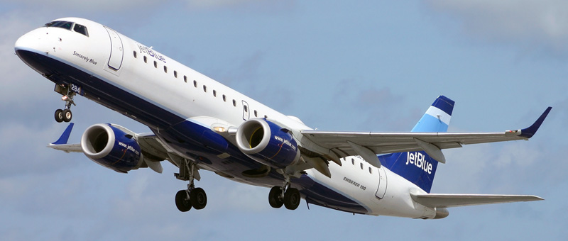 """Seat map Embraer ERJ-190 """"JetBlue"""". Best seats in the plane"""