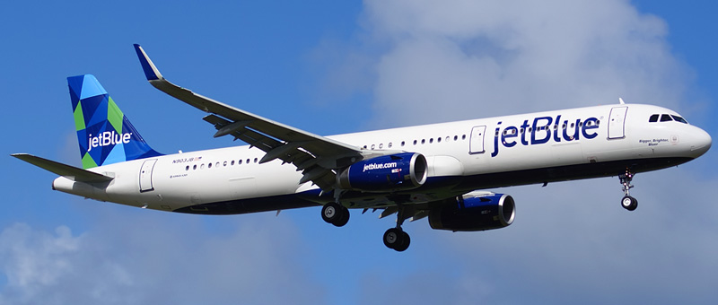 """Seat map Airbus A321-200 """"JetBlue"""". Best seats in the plane"""