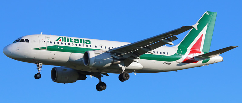 "Seat map Airbus A319-100 ""Alitalia"". Best seats in the plane"