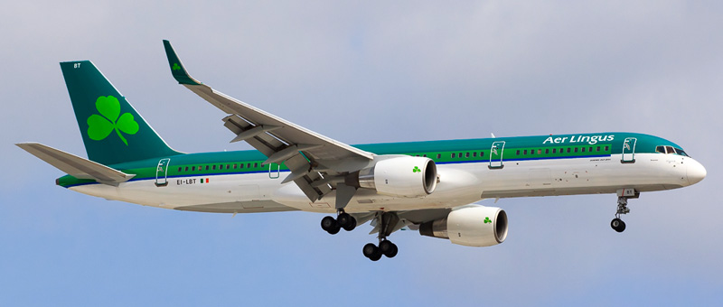 "Seat map Boeing 757-200 ""Aer Lingus"". Best seats in the plane"