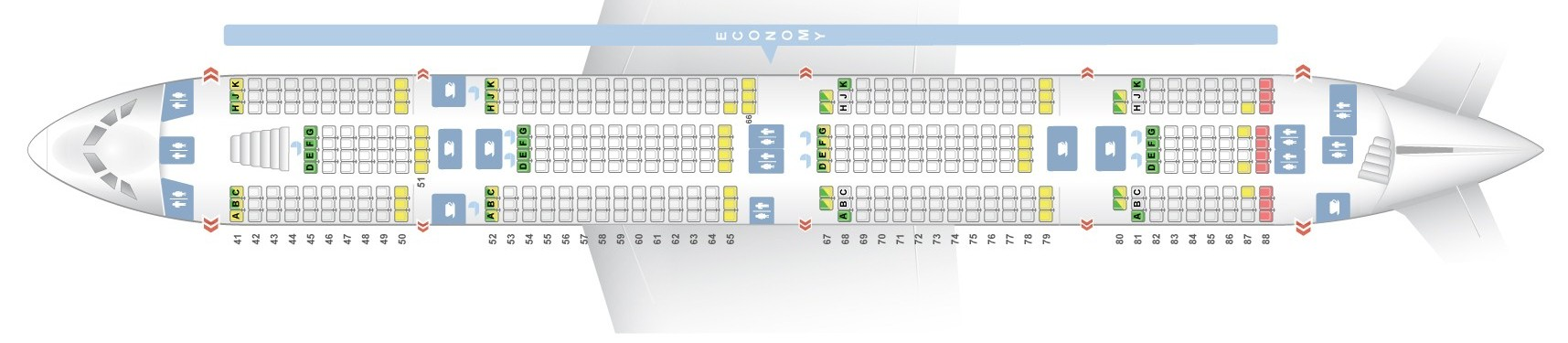 Seat map Airbus A380-800 Emirates. Best seats in the plane