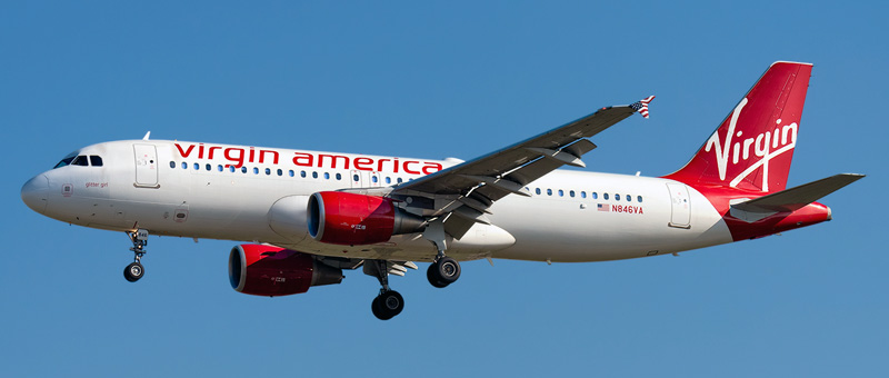 Airbus A320-200 Virgin America. Photos and description of the plane