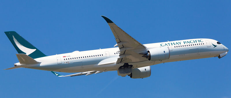 Airbus A350-900 Cathay Pacific. Photos and description of the plane