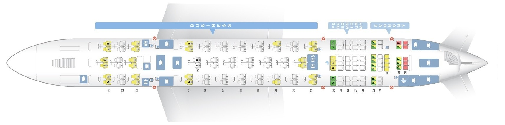 Seat map Airbus A380-800 Qantas Airways. Best seats in the plane