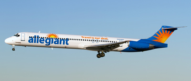 McDonnell Douglas MD-88 Allegiant Air. Photos and description of the plane
