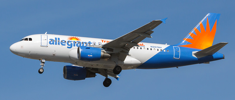 Airbus A319-100 Allegiant Air. Photos and description of the plane